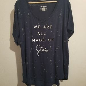 "Lane Bryant ""We are all made of stars"" size 22/24"